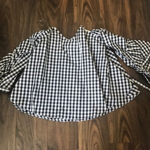 DO+BE gingham top